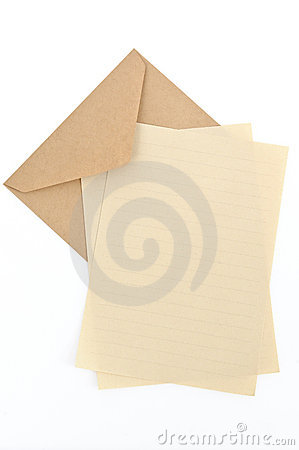Brown Envelope With Letter Paper
