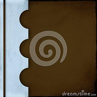 Brown et cache bleu de cahier