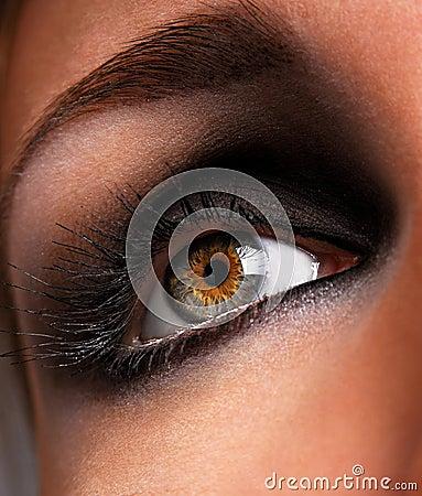 Free Brown Eyeshadow Stock Photo - 2177940