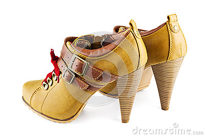 Brown female shoes