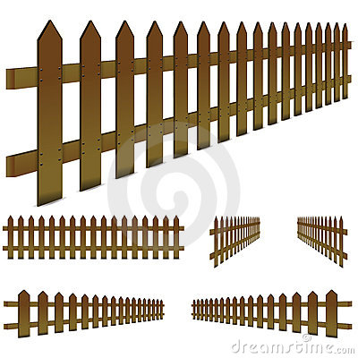 Brown fence