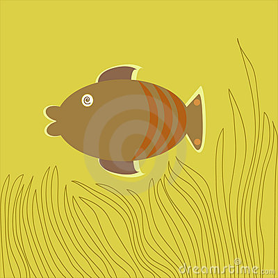 Brown Fish-Cartoon