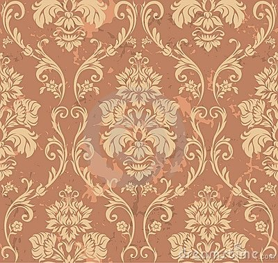 Free Brown Floral Pattern Stock Photos - 6402113