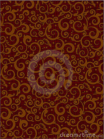 Free Brown Floral Scrolls Pattern Background Stock Images - 8698894