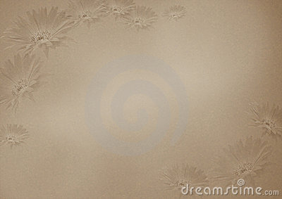 Brown flower background with texture