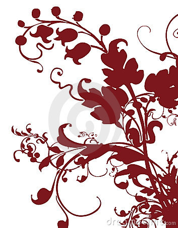 Brown flower pattern silhouette