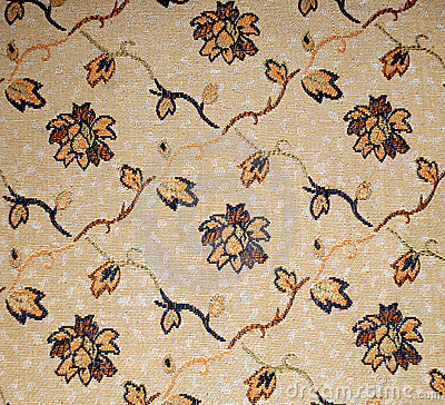 Brown Flower Textile Background