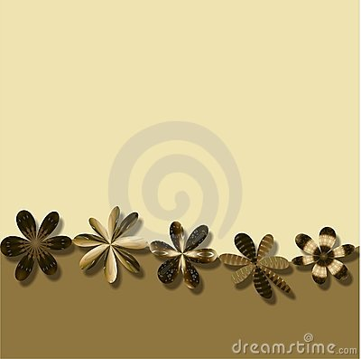 Brown Flowers Frame wallpaper background