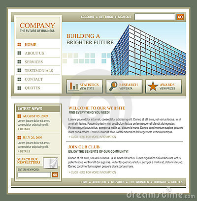 Brown and Gold Technology Business Template