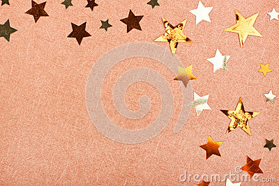 Brown greeting card with stars