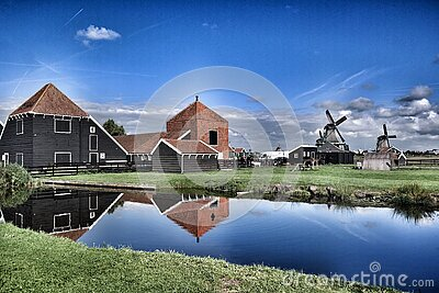 Brown Grey Barn House Near Windmill During Daytime Free Public Domain Cc0 Image