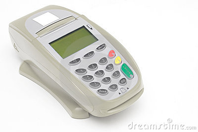 Brown Grey Credit Card Terminal