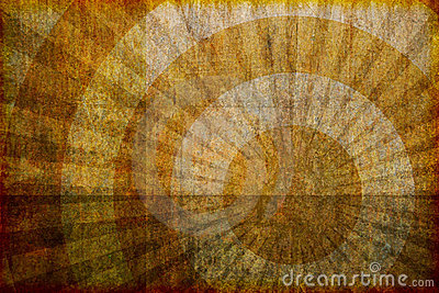 Brown Grunge Background with Rings and Rays