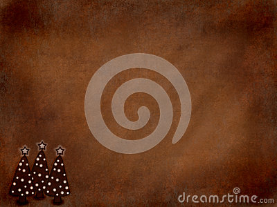 Brown Grunge Christmas Background