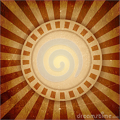 Brown grunge light rays background