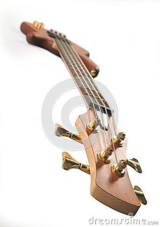 Brown headstock bass guitar