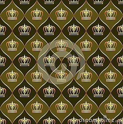Brown-Hintergrund mit Kronen