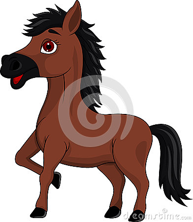 Brown horse cartoon