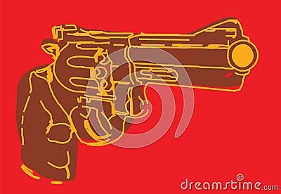 Brown illustrative gun