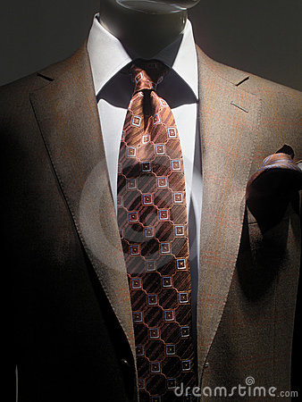 Brown jacket and tie