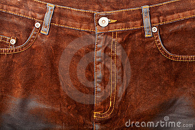 Brown jeans front