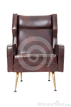 Free Brown Leather Armchair Royalty Free Stock Image - 24366506