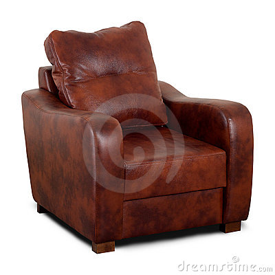 Free Brown Leather Armchair Stock Image - 8416341