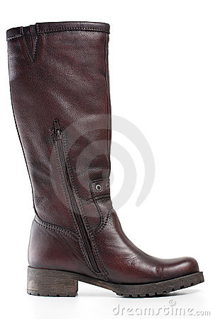 Free Brown Leather Boot Royalty Free Stock Images - 21281249