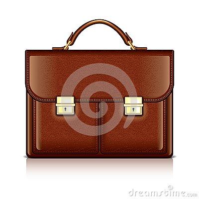 Free Brown Leather Briefcase Vector Illustration Royalty Free Stock Photography - 38462267