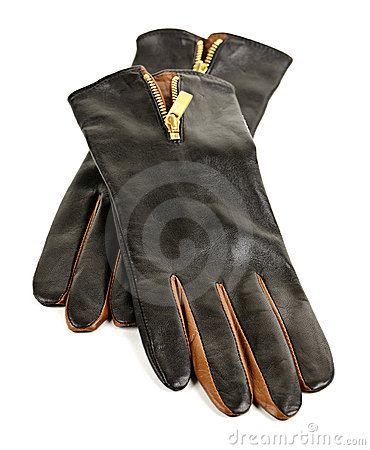 Free Brown Leather Gloves Royalty Free Stock Photography - 21747947