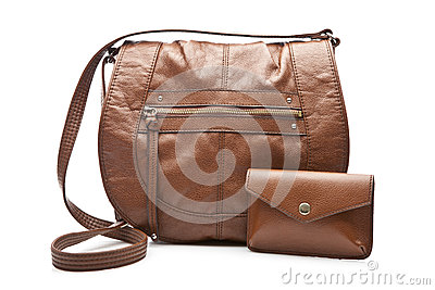 Female handbag and wallet