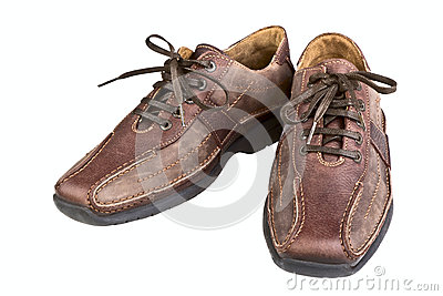 Brown leather man s shoes
