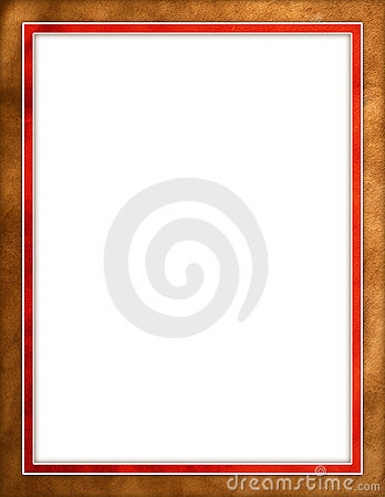 Brown leather & red border