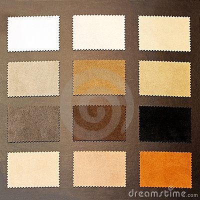 Brown leather samples