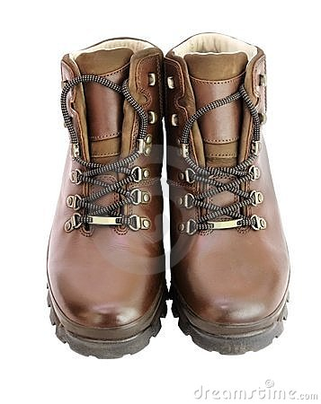 Brown Leather Walking Boots