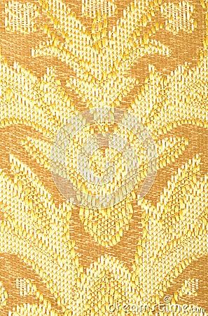 Golden Brown Linen Cloth Close up