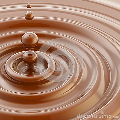 Brown liquid chocolate drop background