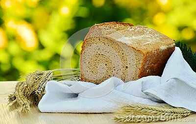 Brown Loft Bread In White Textile On Beige Table Free Public Domain Cc0 Image