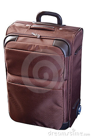 Brown luggage