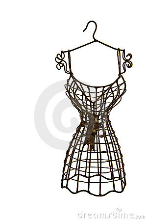 Brown metallic dress form isolated