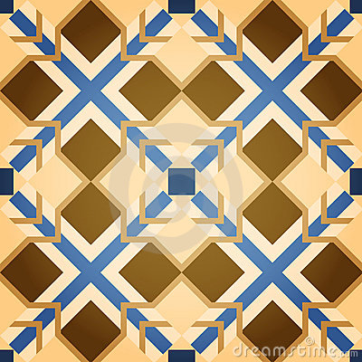 Brown Mosaic Square Seamless Pattern