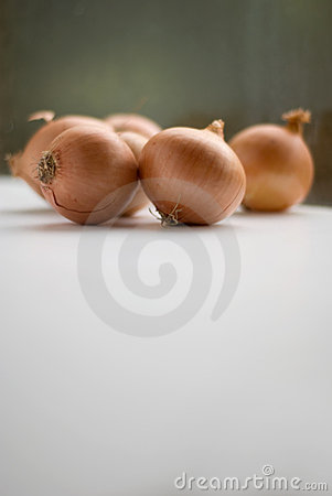Brown onions in natural light