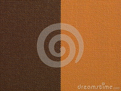 Brown and orange fabric texture macro