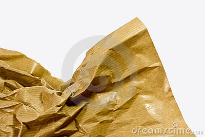 scrunched brown paper