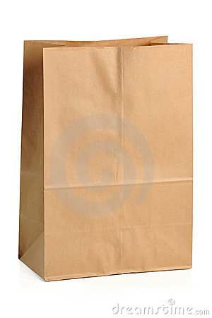 Free Brown Paper Bag Royalty Free Stock Photos - 18121768