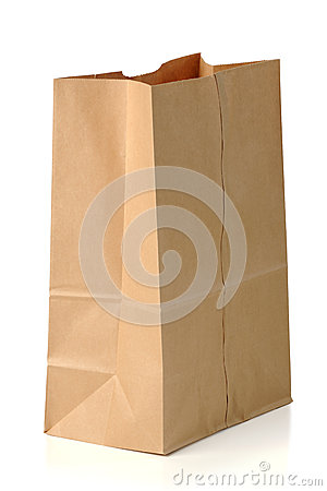Free Brown Paper Bag Royalty Free Stock Photography - 28609017