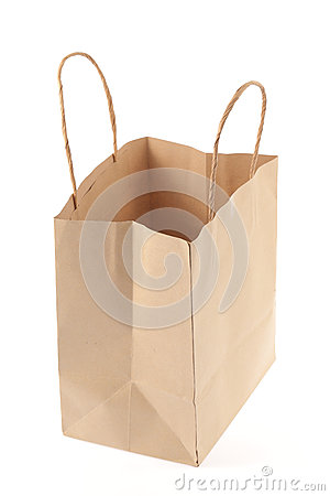 Free Brown Paper Bag Royalty Free Stock Photo - 45542435