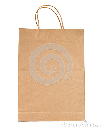 Free Brown Paper Bag Isolated Stock Photos - 27794273