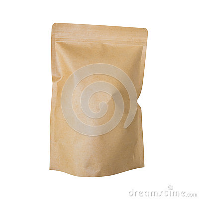 Free Brown Paper Bag Isolated On White Royalty Free Stock Image - 91666066