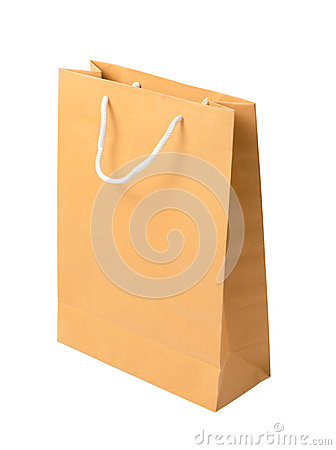 Free Brown Paper Bag Isolated On White Background Stock Photos - 60657083